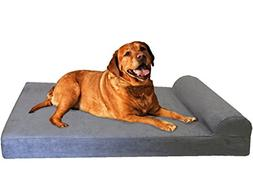 Dogbed4less Premium Large Head Rest Orthopedic Gel Cooling M