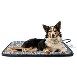BohoFarm Heated Dog Pad Bed Mat for Large Dog Waterproof Adj