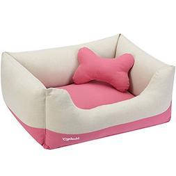 Blueberry Pet Linen Blended Canvas Cuddler Dog Bed, Priyanka