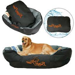 Heavy Duty L/XL/XXL Comfy Dog Bed Bolsters Beds Pet Cat Padd