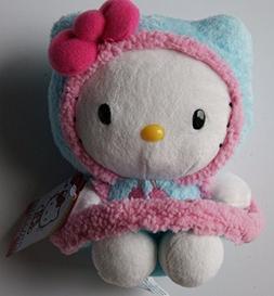 SANRIO Hello Kitty Mini Plush Doll in Fluffy Winter Coat - 6