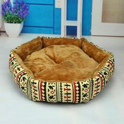 Hexagonal Two Sides Plush Cat Dog Beds Pet House Nest Puppy