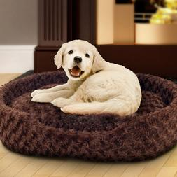 Holiday Pet Bed PAW Cuddle Round Plush Pet Bed