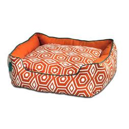 Honeycomb Couch Pet Bed, Medium , Tangerine