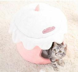 Ice Cream Pet Dog Cat Sofa Bed Tent House Kennel Fold Tent K