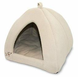 Indoor Dog House Bed Brown Pet Soft Warm Cushion Pad Washabl