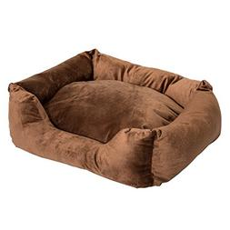 "PawHut 24"" Indoor Electric Heated Dog Bed With Removable Hea"