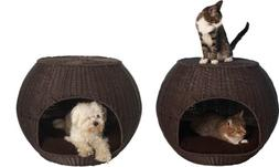 The Refined Canine Indoor and Outdoor Igloo Dog Bed