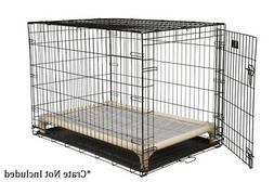Kuranda Indoor/Outdoor Dog Crate Bed - Almond Frame - Open W