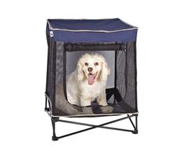 Quik Shade Outdoor Instant Pet Kennel Combo with Elevated Me