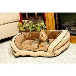 """K&H Pet Products Bolster Couch Pet Bed Large Mocha / Tan 28"""""""
