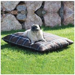 K & H Indoor/Outdoor Single-Seam Pet Bed - Large/Tan Plaid K