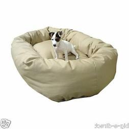 """Khaki - Donut Bagel Animal Pet Dog Bed - 52"""" Extra Large 360"""