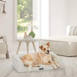 "Kirkland Signature 24""x36"" Dog Sofa Bed Linen Tan Memory Foa"