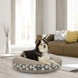 kirkland signature 42 round dog bed tan
