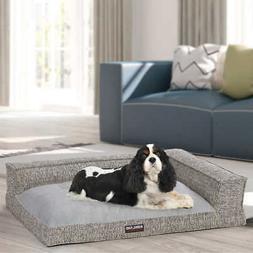 Kirkland Signature Medium Bolster Dog Bed 28 X36  Gray Foam