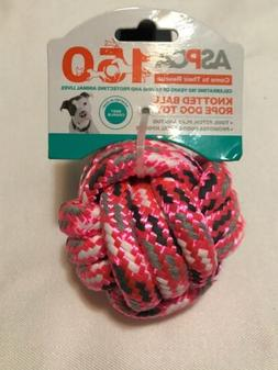 ASPCA Knotted Ball Rope Dog Toy Pink