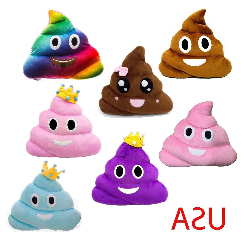 "13"" Poop Poo Ghost Emoji Pillow Emoticon Cushion Plush Toy 3"