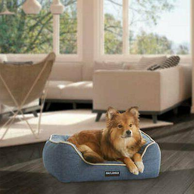 21 x 25 rectangular dog bed blue