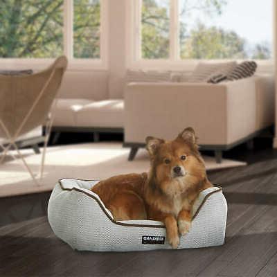 21 x 25 rectangular dog bed grey