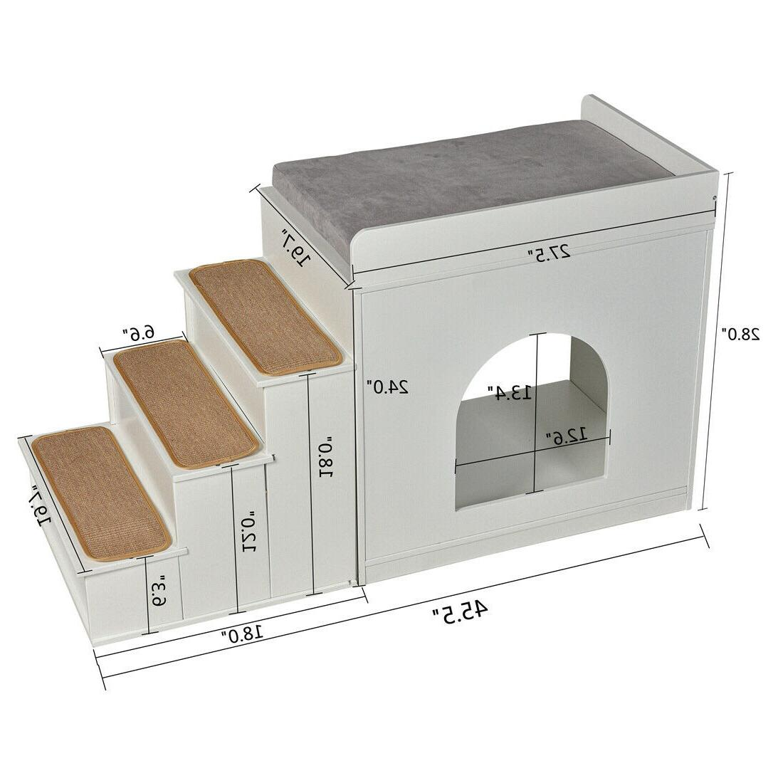 """24""""H Pet Multi-Level Bed Bunk Cats Dogs"""