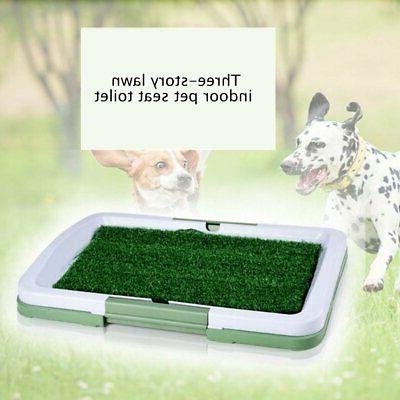 3 Layers Large Dog Potty Training Pee Pad Mat Puppy Tray Gra
