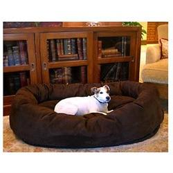 32 Chocolate Suede Bagel Dog Bed By Majestic Pet Products