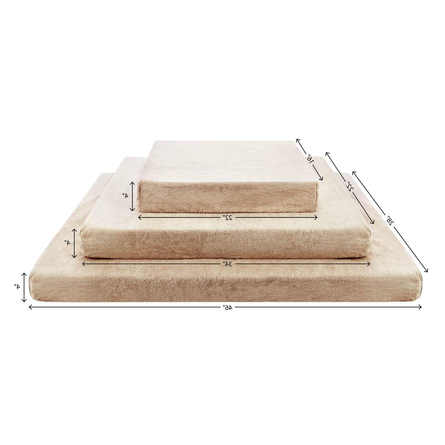 BRINDLE Foam BED with Removable and Waterproof Liner