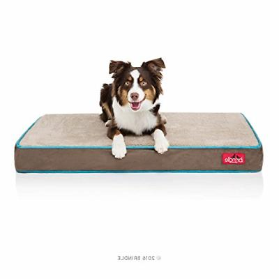 Brindle 4 Inch Solid Memory Foam Orthopedic Dog Bed with Rem