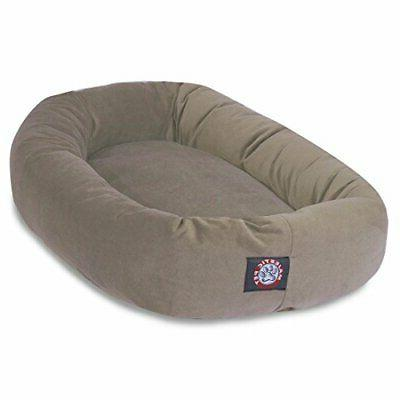 40 Stone Suede Bagel Dog Bed By Majestic Pet Products