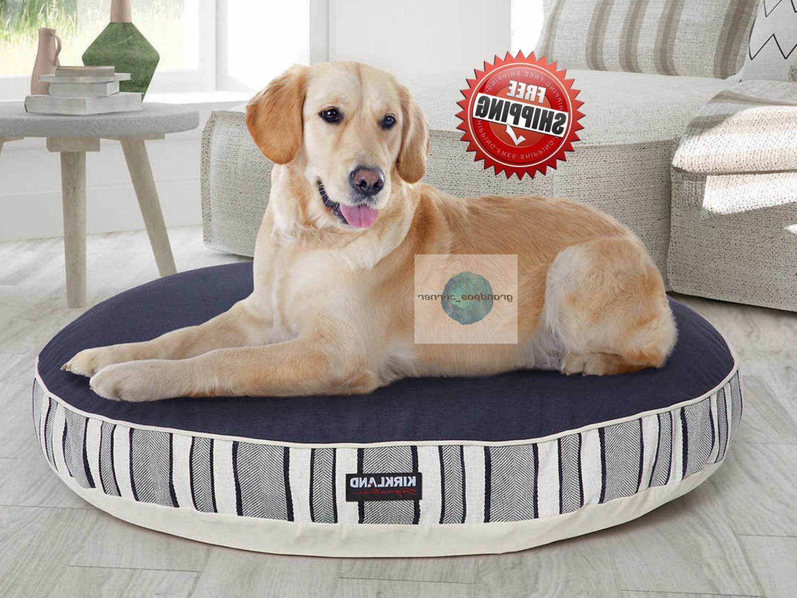 42 inch round dog bed blue machine