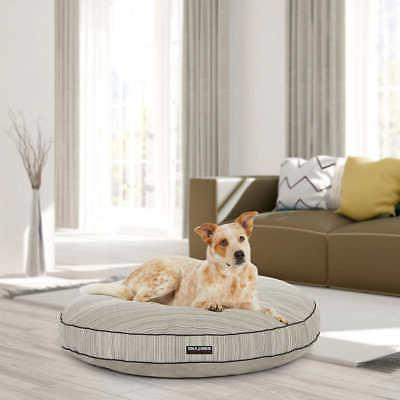 42 round dog bed black