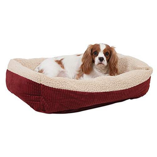 Aspen Pet Self-Warming Corduroy Pet Bed Several Assorted Colors