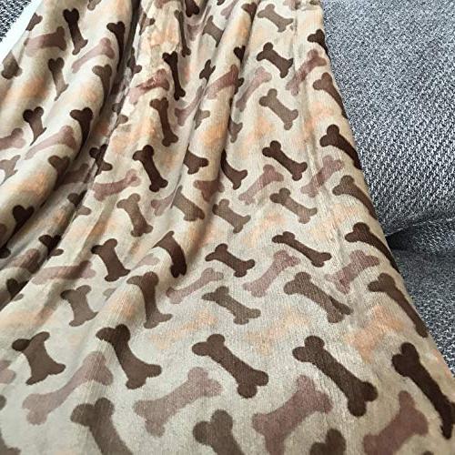 "Longrich Print & Ultra Sherpa Blanket, L 50"" Taupe"