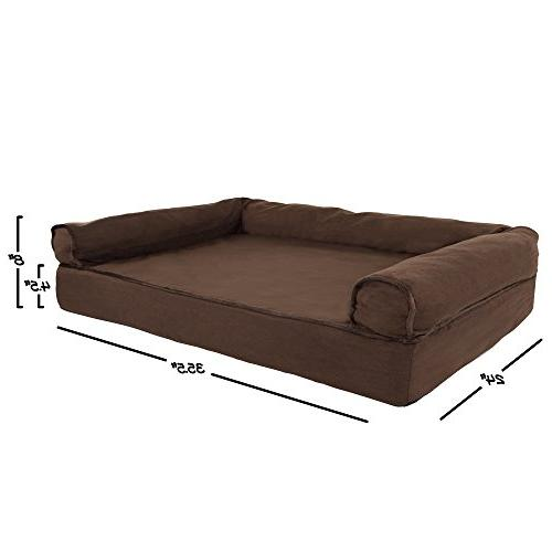 PETMAKER Pet Bed with Foam and Foam Stuffed 35.5x24x8 Brown