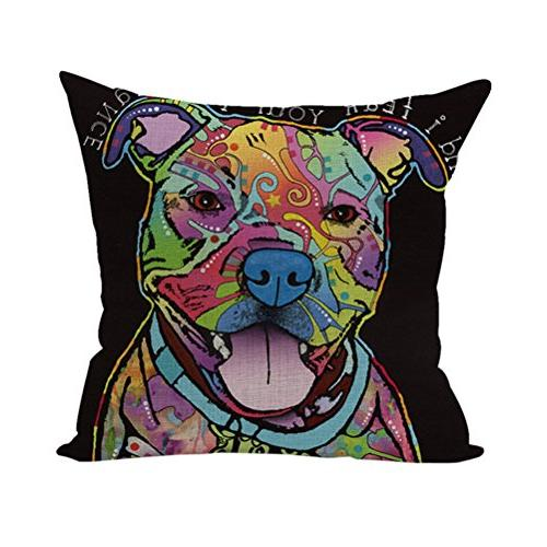 abstract animals cotton pillowcase decorative