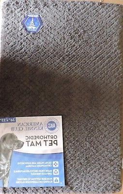 akc6462 grey orthopedic pet dog mat bed