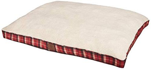 akc9261red plaid bed pet gusset