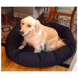 Extra Large 52-inch Bagel Donut Pet Dog Bed