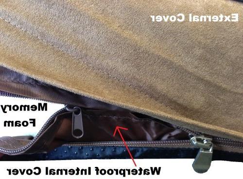 ehomegoods Gusset Style Waterproof Memory Bed for Medium
