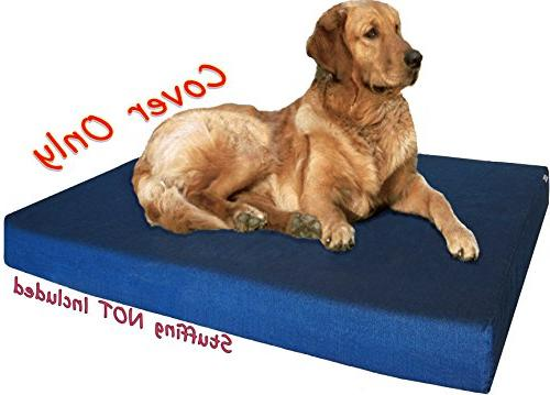 Dogbed4less Inches Large Color cotton Jean Pet Bed Cover Replacement only