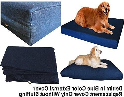 Dogbed4less Large Denim Bed Cover - Replacement only