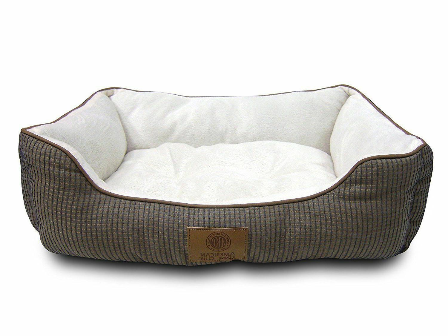 box weave design cuddler pet bed tan