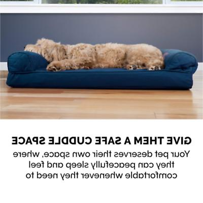 Brand Jumbo Quilted Sofa Pet Bed Cats, Navy