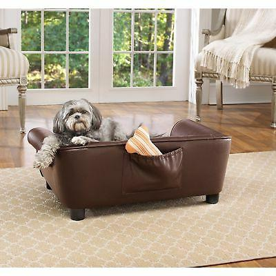 Brown Faux Pet Cat Sleep Couch
