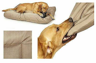 CHEW RESISTANT TOUGH BEDS Durable Polyester Reinforced Ripstop Tan