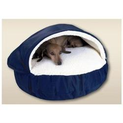 Cozy Cave Pet Bed in Poly Cotton - Size: Large , Fabric: Oli