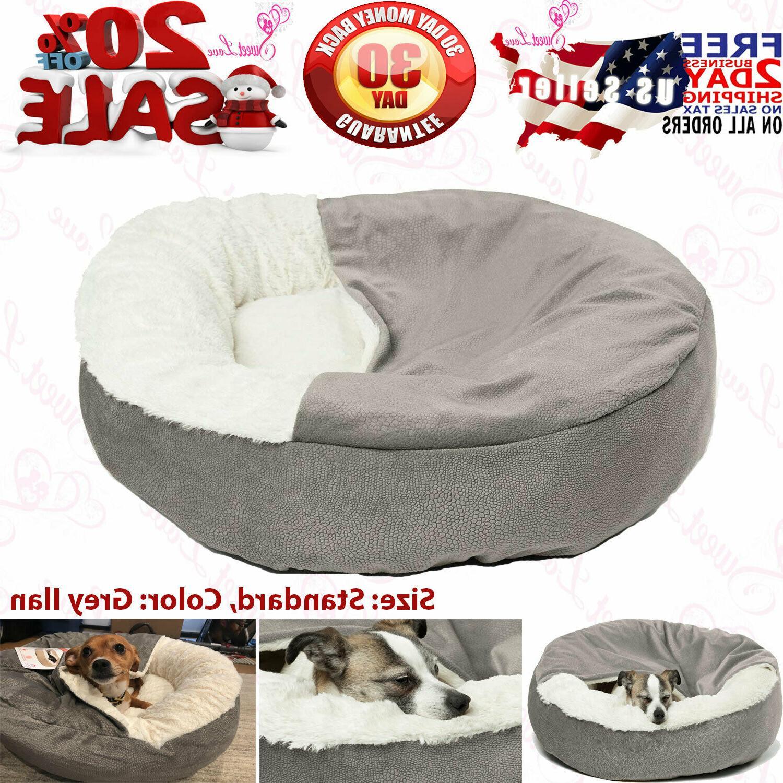 cozy cuddler grey luxury dog and cat