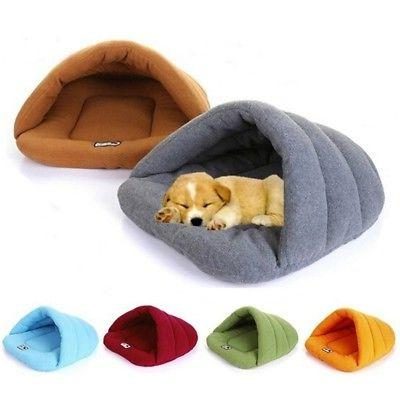 Cozy Pet Cat Dog House Kennel Cave Sleeping Bed Mat Warm