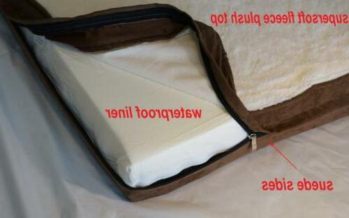Cream supersoft fleece plush top Zipper Cover + waterproof l